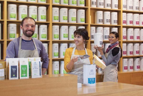 La boutique des Jardins de Gaïa à Wittisheim